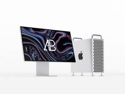 Mac Pro Free PSD Mockup