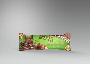 Protein Bar Chocolate Free PSD Mockup
