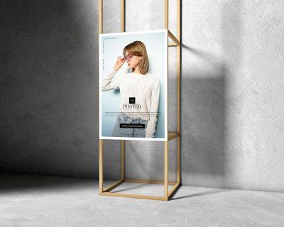 Wooden Frame Poster Free PSD Mockup