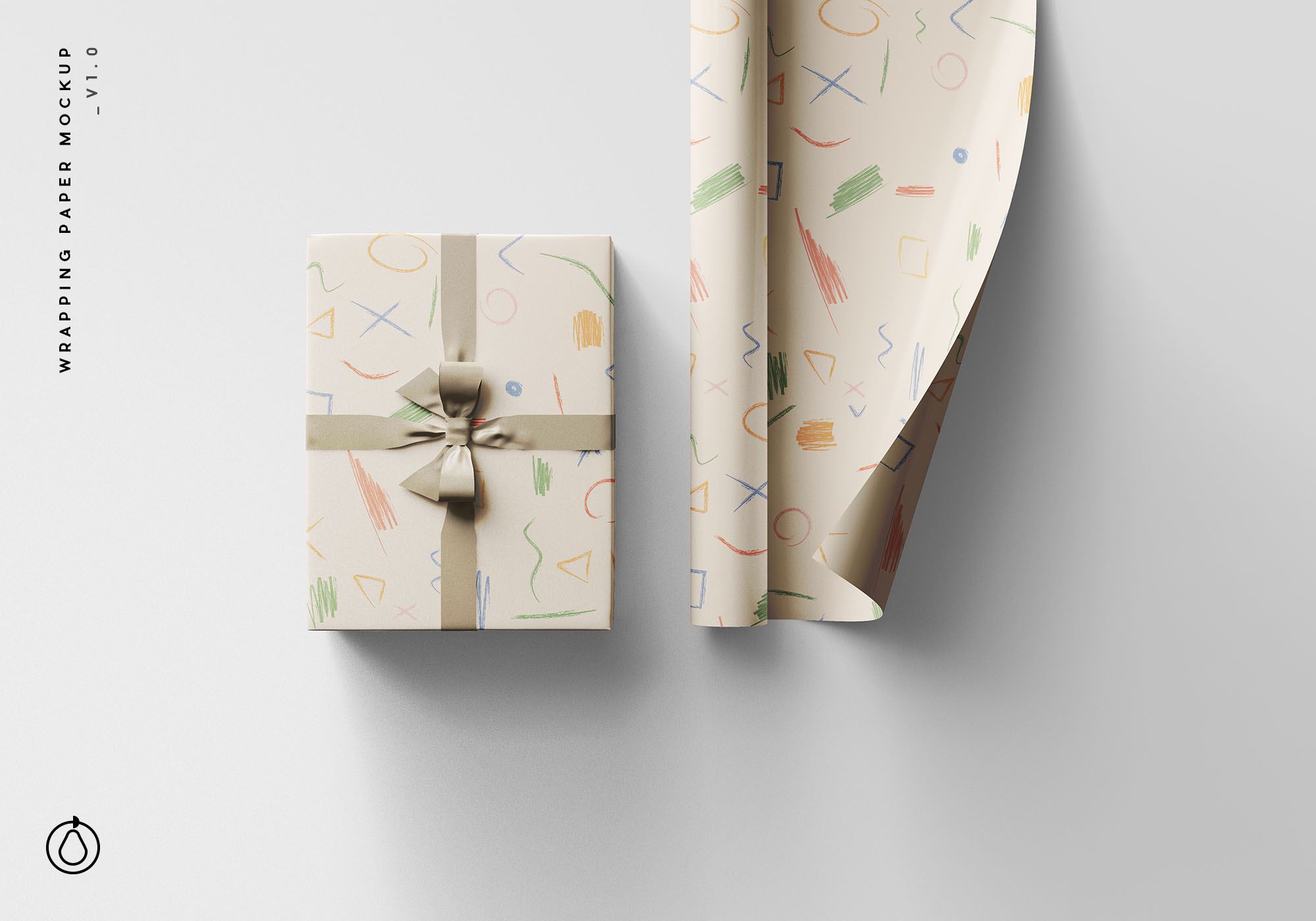 Wrapping Paper Free PSD Mockup