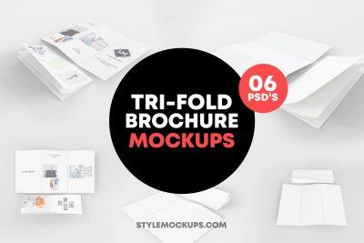 6 Tri-Fold Brochure Mockups