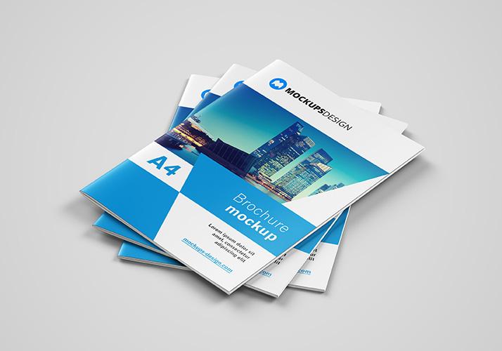 A4 Brochure Free PSD Mockup