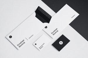 Envelope & Business Card Free PSD Mockups