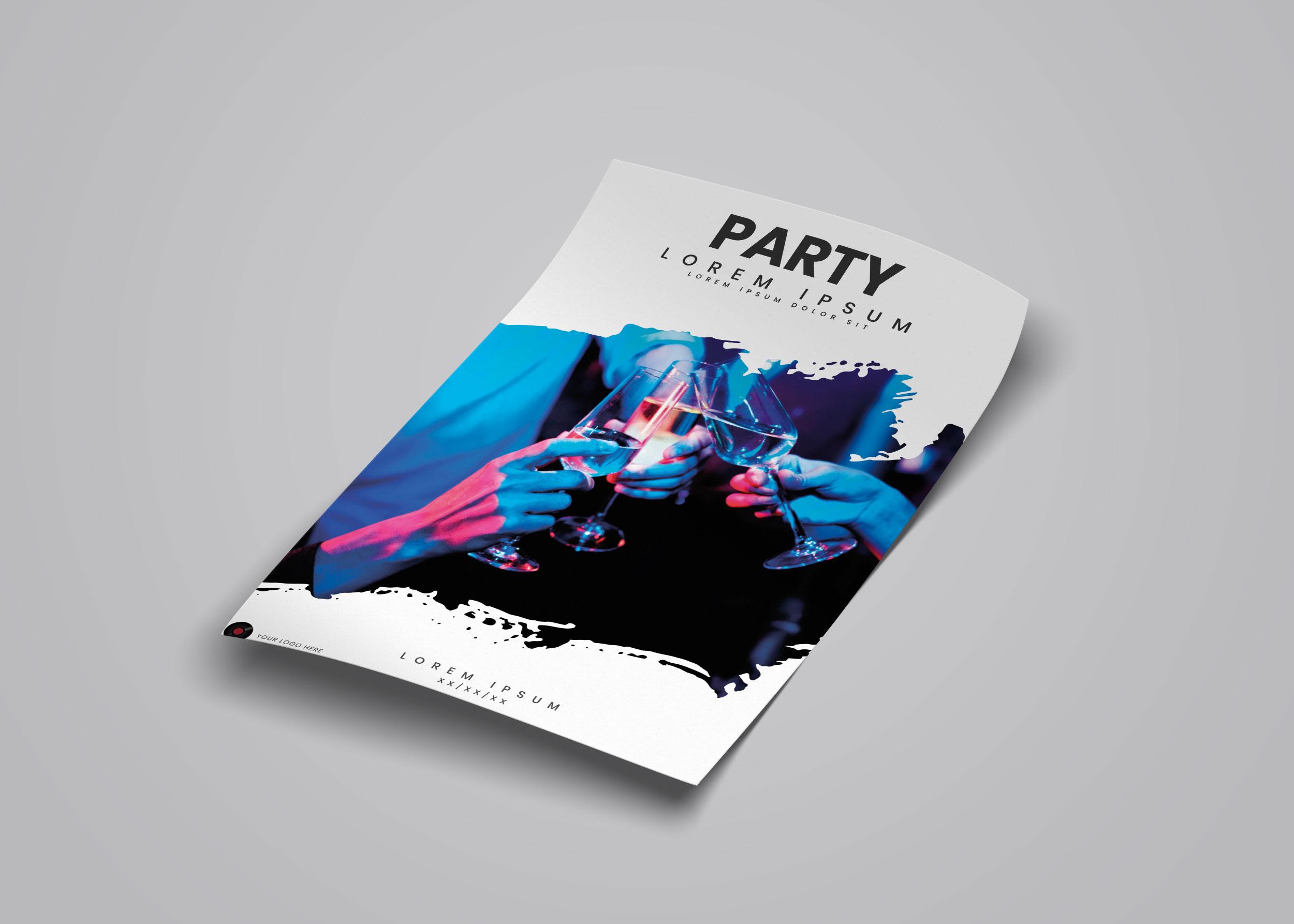 Flyer Design Free PSD Mockup Template