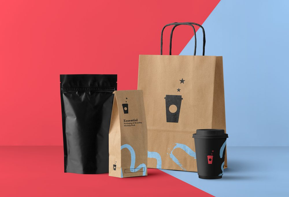 Food Packaging Free PSD Mock-ups
