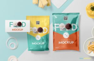 Food Packaging Free PSD Mockup