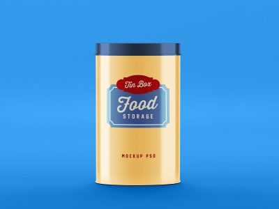 Food Storage Tin Can Free Mockup