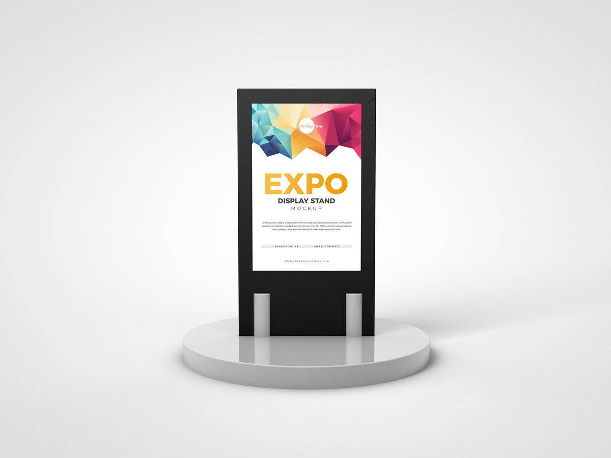 Free Expo Display Stand Mockup