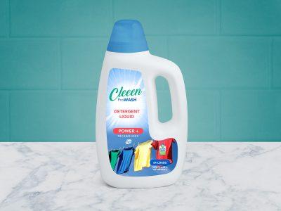 Free Liquid Detergent / Fabric Softener Bottle Mockup