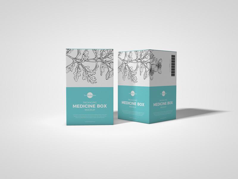 Free Medicine Box Packaging Free Mockup