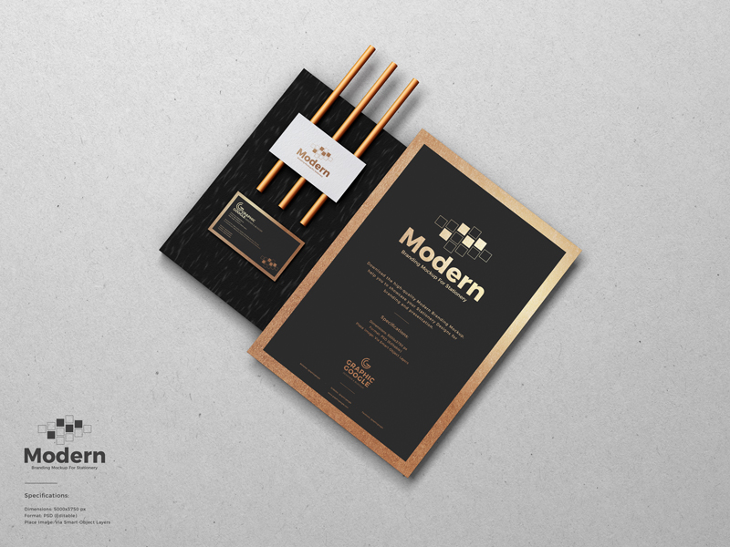 Free Modern Branding Mock-ups For Stationery