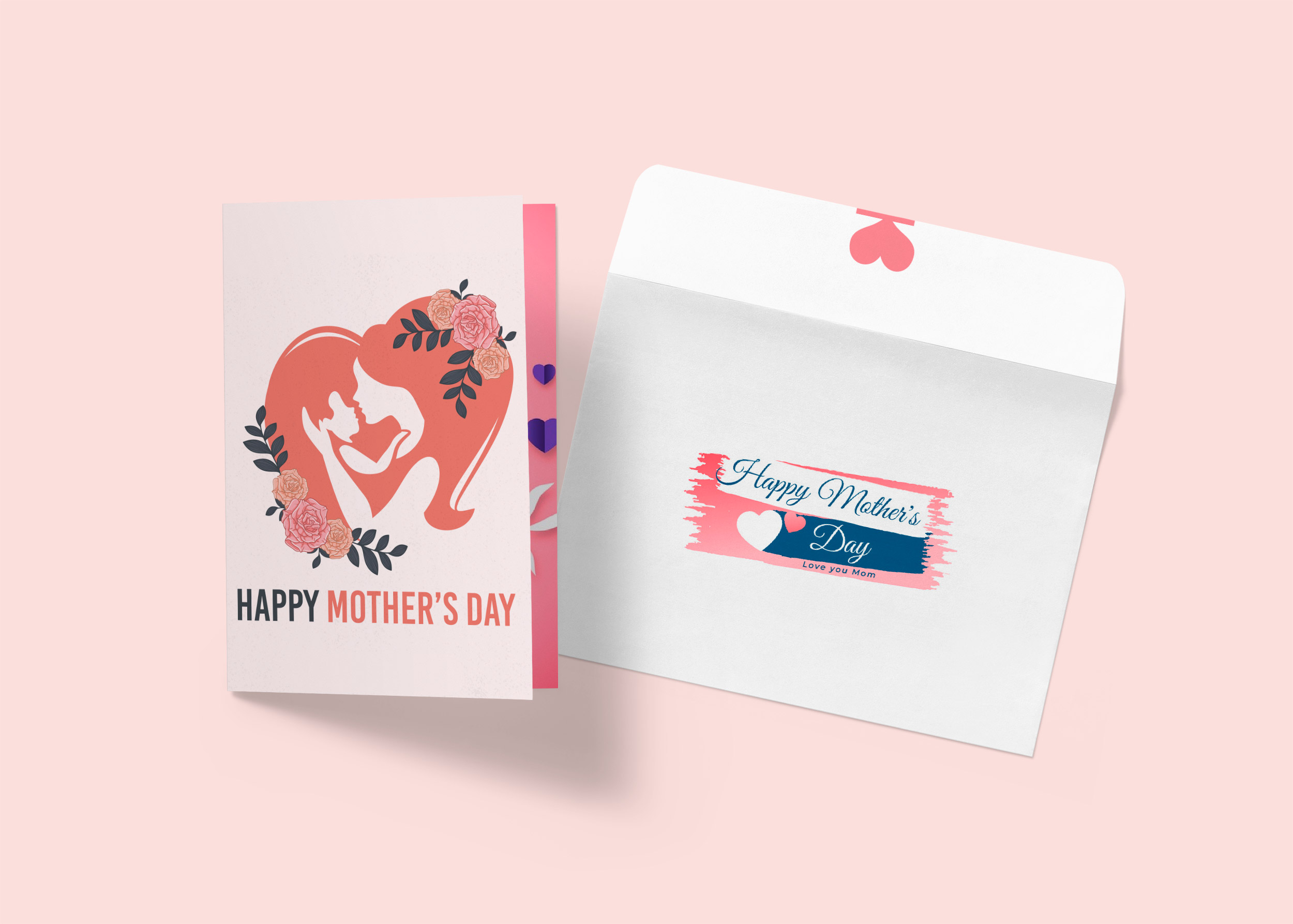 Free Mother's Day Greeting Card Mockup