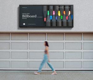Free Outdoor Wall Billboard Mockup For Advertisement