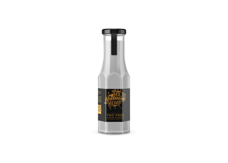 Glass Juice Bottle Label Free Mockup