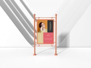 Indoor Modern Sandwiched Clasps Poster Mockup
