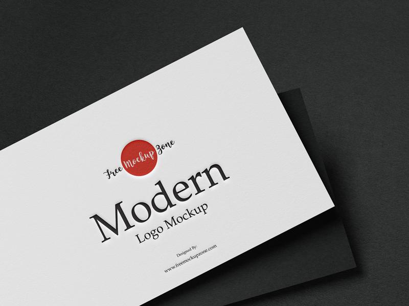 Modern Logo Free PSD Mockup