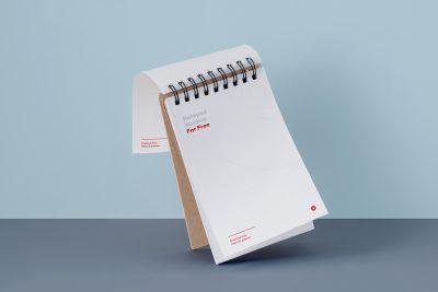 Notepad Free PSD Mockup