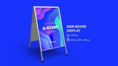 Outdoor Advertising Foldable A-Stand Free Mockup