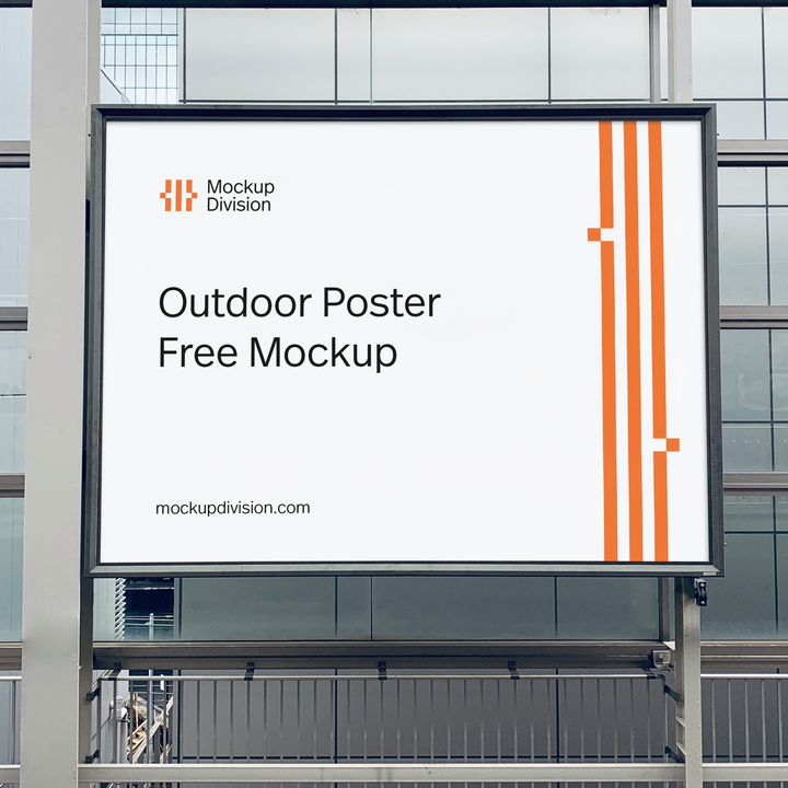 Outdoor Poster Free PSD Mockup