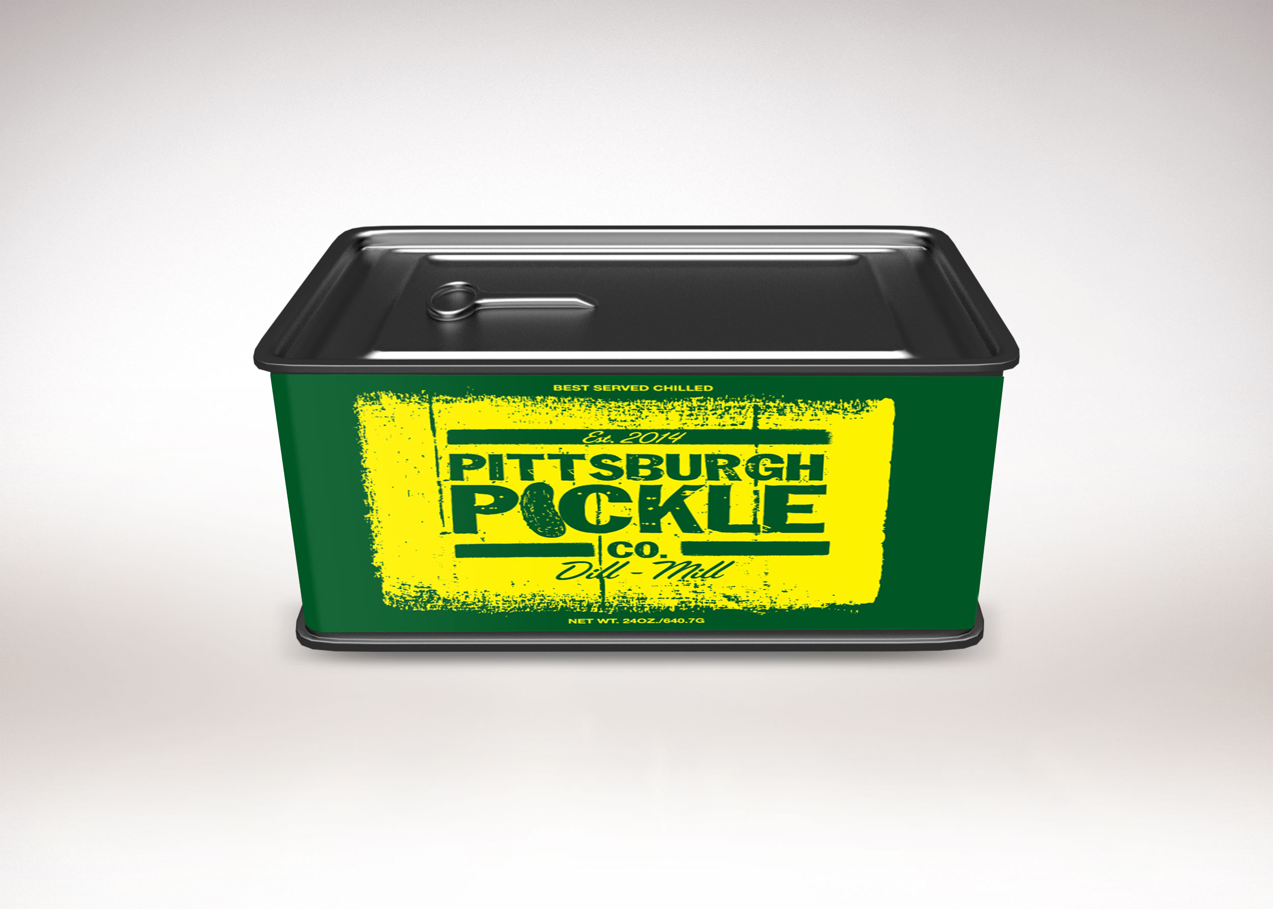 Pickle Tin Can Label Free PSD Mockup