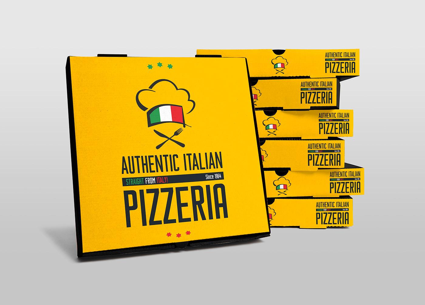 Pizza Box Free PSD Mock-ups