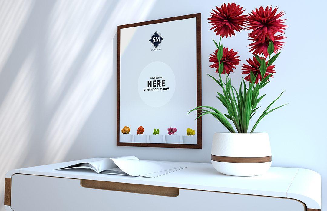Poster Frame Scene Kit Free Mockup