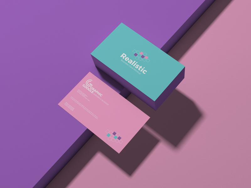 Realistic Business Card Free PSD Mockup