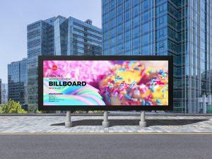 Roadside Advertisement Billboard Free Mockup