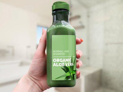 Shampoo Bottle Free PSD Mockup