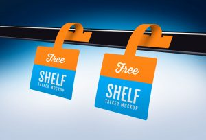 Shelf Talker Wobbler Free Mockup
