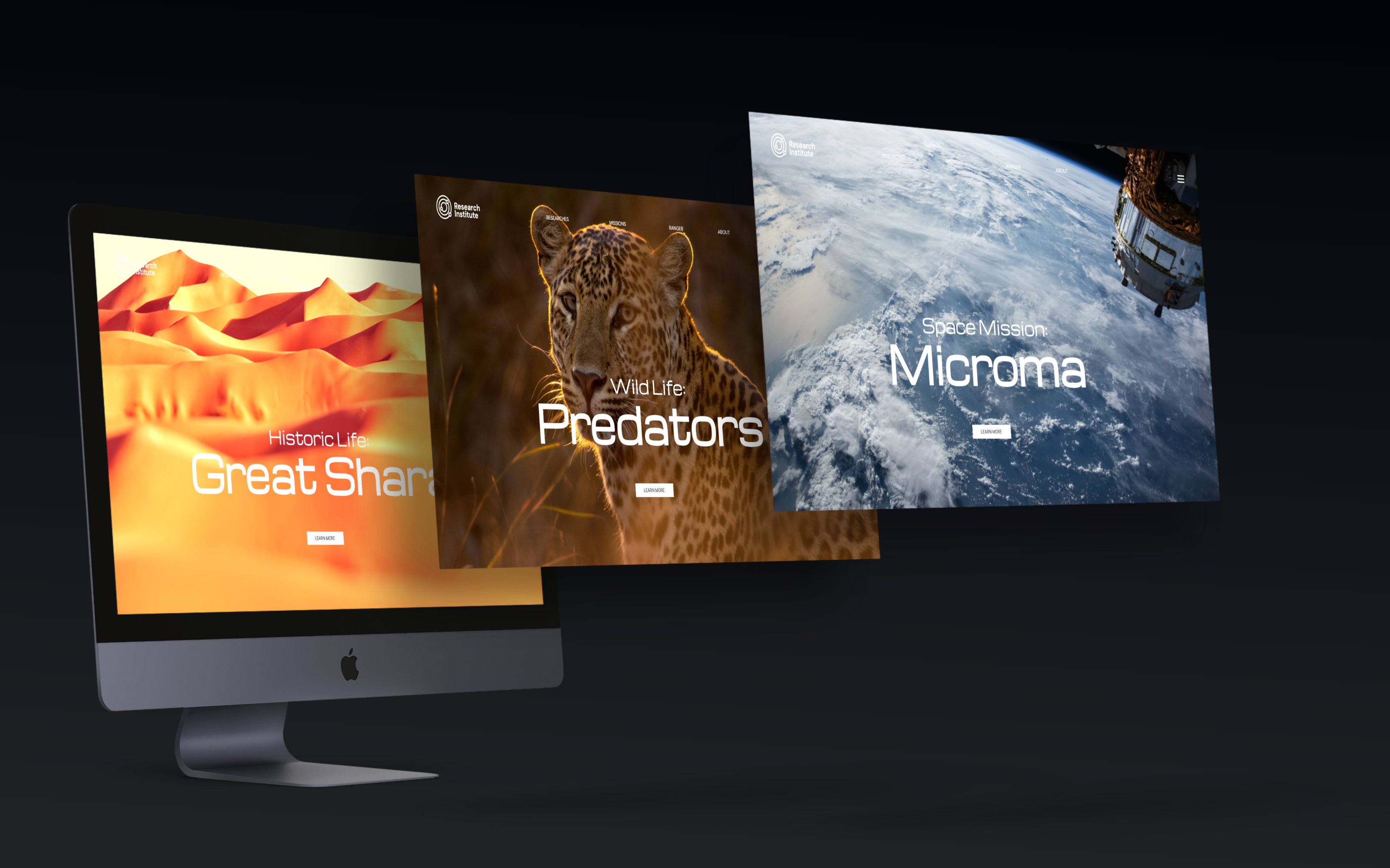 iMac Multiple Screens Mock-ups Scene
