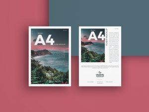 Brand A4 Flyer Free Mockup