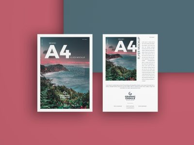 Brand A4 Flyer Free Mockup