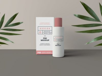 Cosmetics Packaging Free PSD Mockup