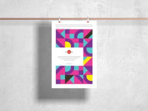 Free Clipped Hanging Poster Mockup