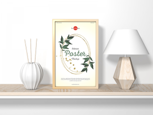 Free Home Interior Vertical Poster Mockup
