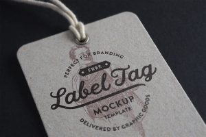 Free Label Tag Mockup
