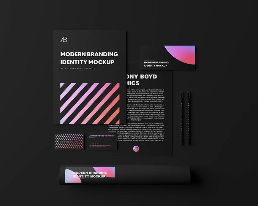 Free Modern Branding Identity Mock-ups