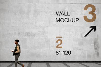 Free PSD Wall Mockup