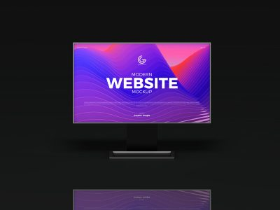 Free Website Mockup With 2 Perspective View