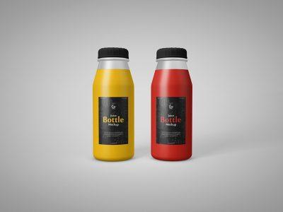 Juice Bottle Free PSD Mock-ups