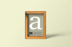 Wood Frame Free PSD Mockup