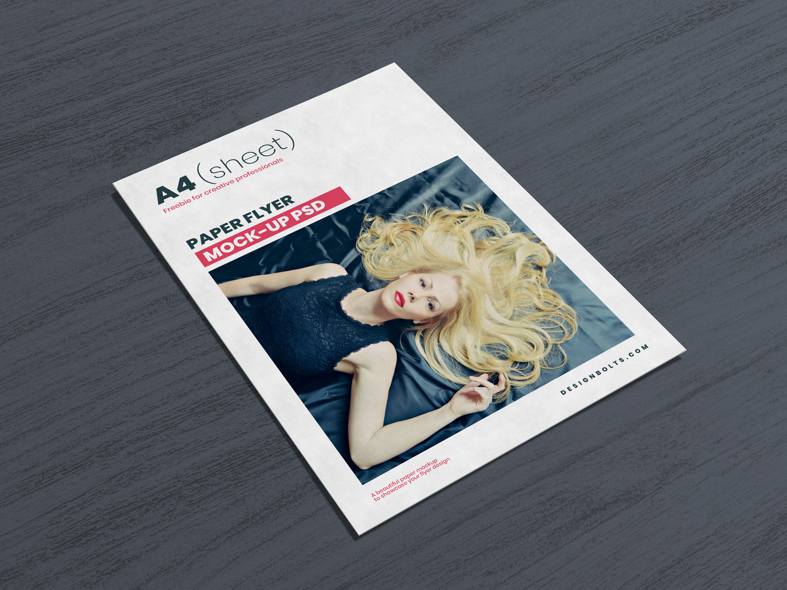 A4 / Letter (US) Flyer Free PSD Mockup