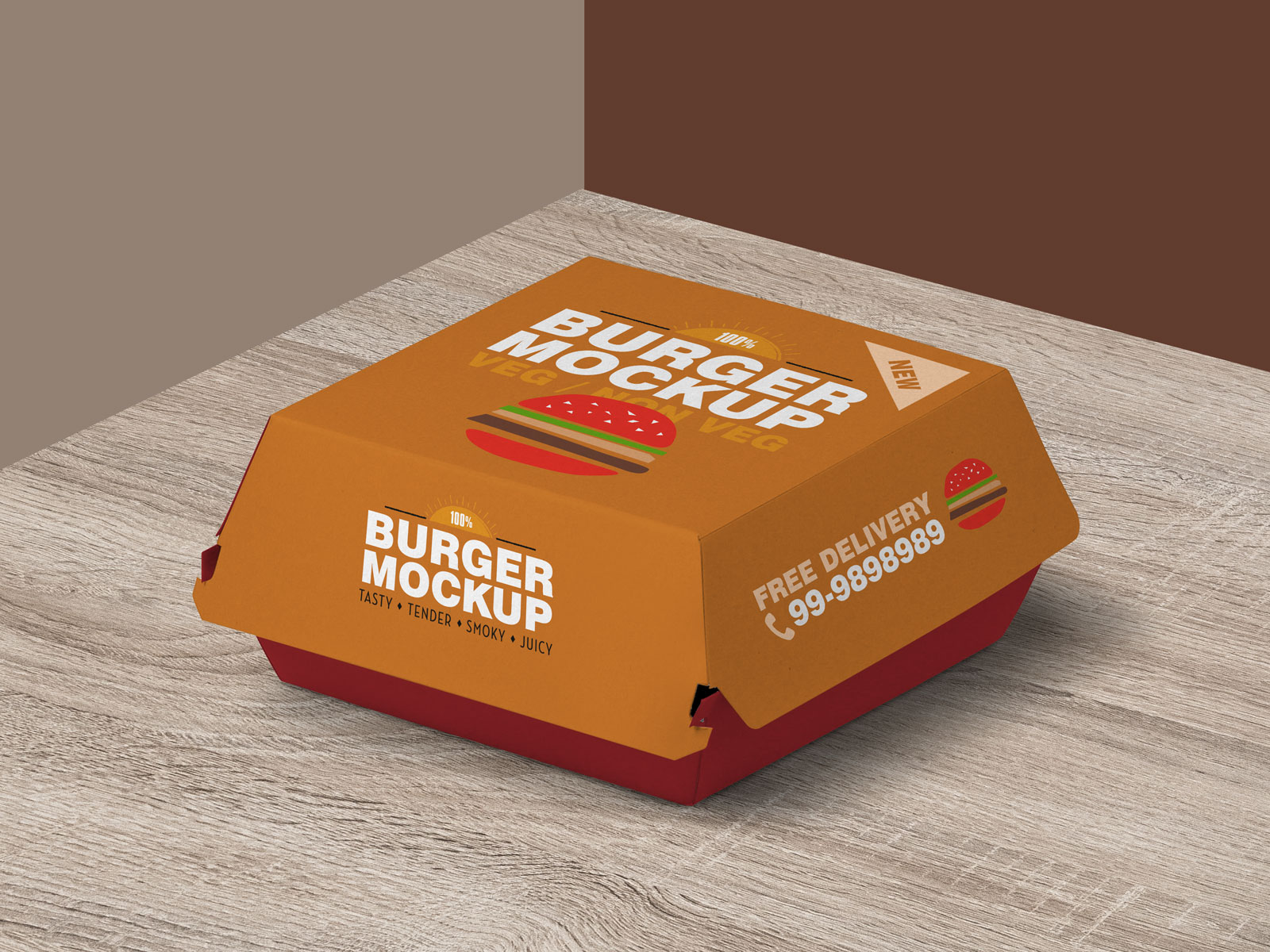Burger Packaging Free PSD Mockup