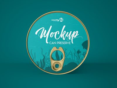 Can Preserve Free PSD Mockup