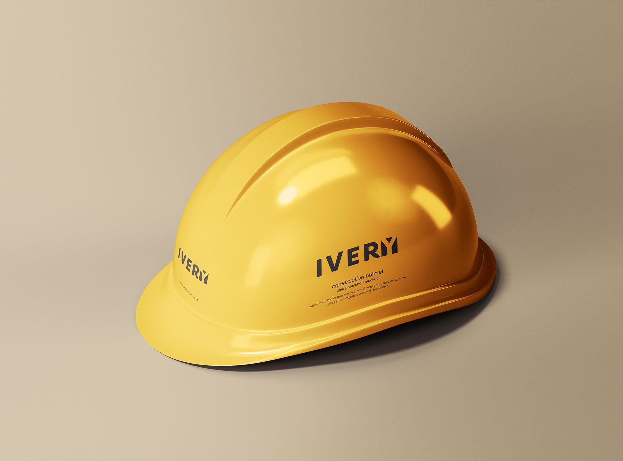 Construction Helmet Free PSD Mockup