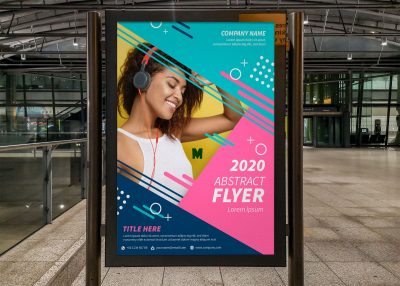 Free Advertising Poster Screen Mockup