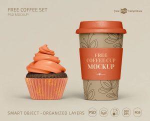 Free Coffee Set Mockups Template