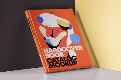 Free Hardcover Book Catalog Mockup