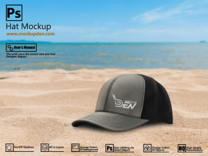 Free Hat Mockup In Outdoor Background